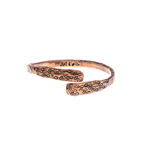 Personalised Infinite Love Copper Bangle