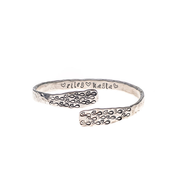 Personalised Infinite Love Sterling Silver Bangle