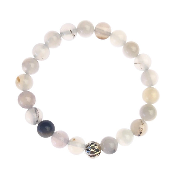 Smoky Agate and Sterling Silver Bracelet