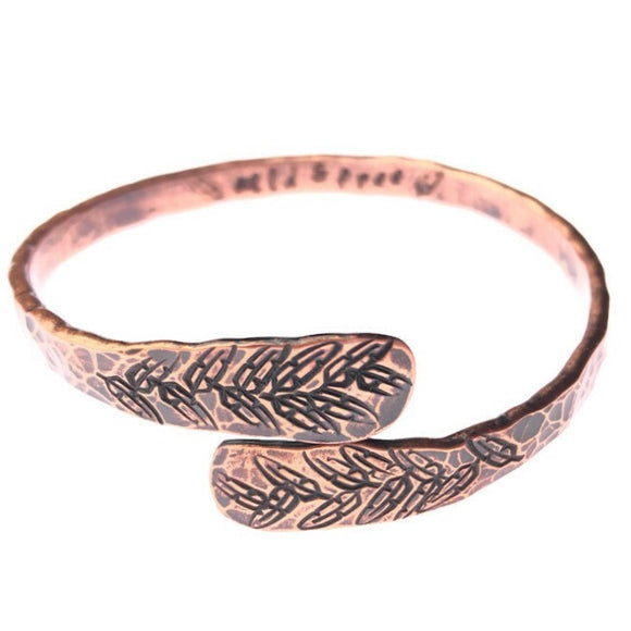 Wild and Free Handmade Copper Bangle