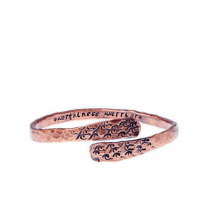 Worthiness Warrior Handmade Copper Bracelet
