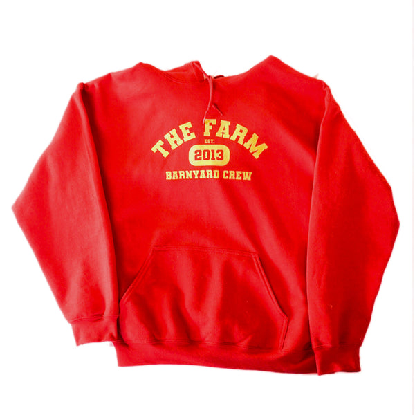 Scooter Farm College Hoodie Red