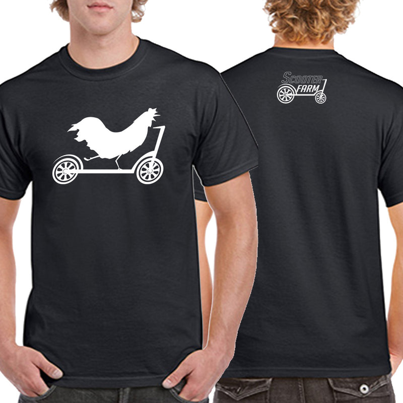 Scooter Farm Rooster Shirt Black