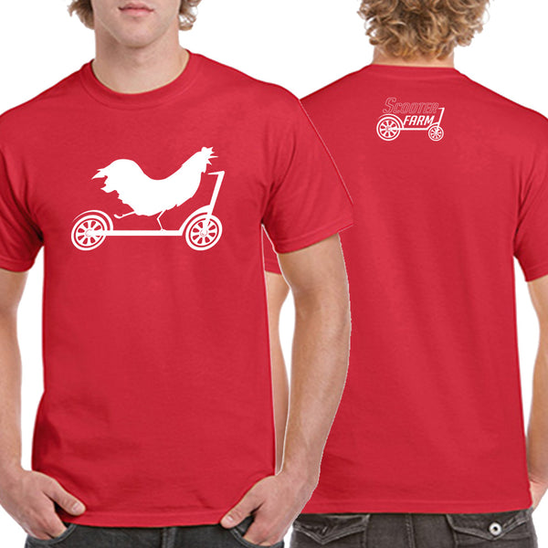 Scooter Farm Rooster Shirt Red