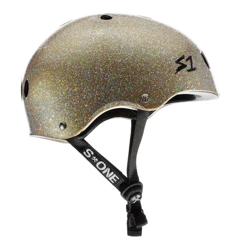 S1 Lifer Helmet Gold Gloss Glitter