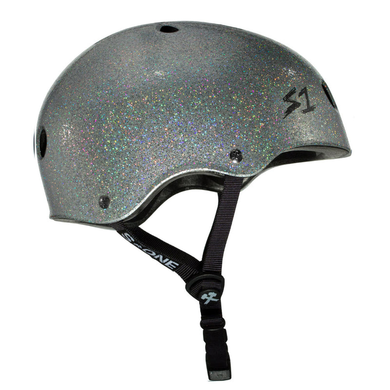 S1 Lifer Helmet Silver Gloss Glitter