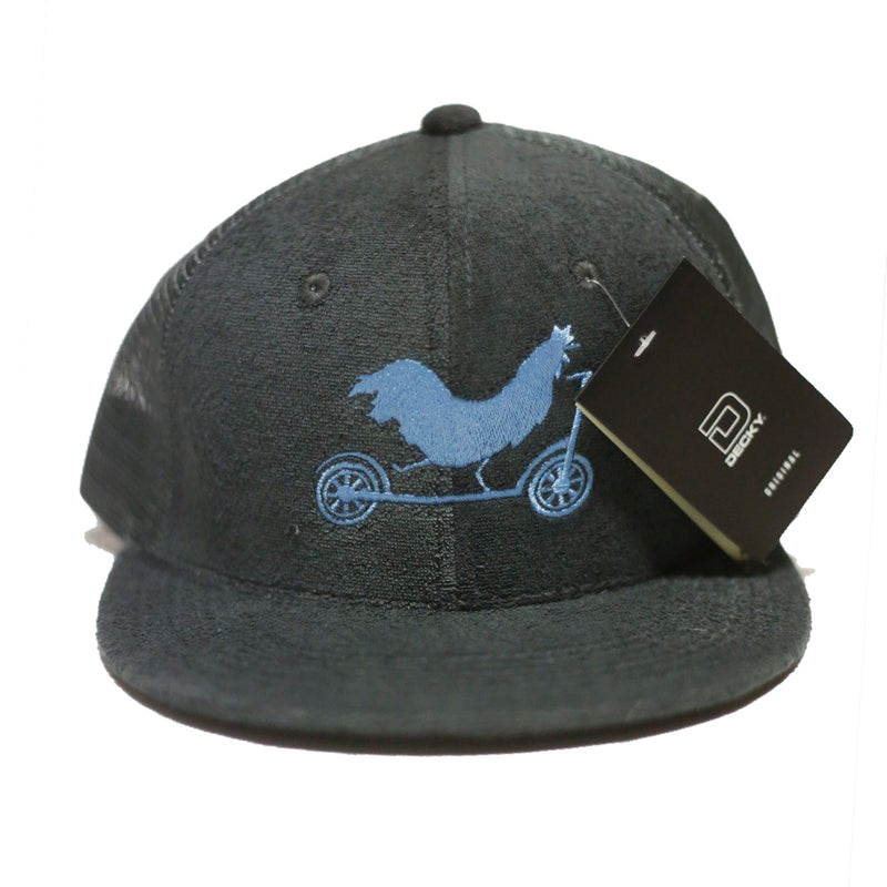 Scooter Farm Trucker Hat Gray Light Blue