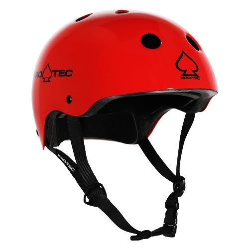 Protec Classic Certified Helmet Gloss Red