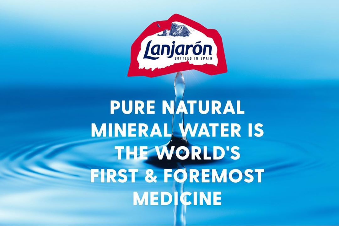 PURE NATURAL MINERAL WATER IS THE WORLD'S FIRST & FOREMOST MEDICINE 💧 #feelthepurity