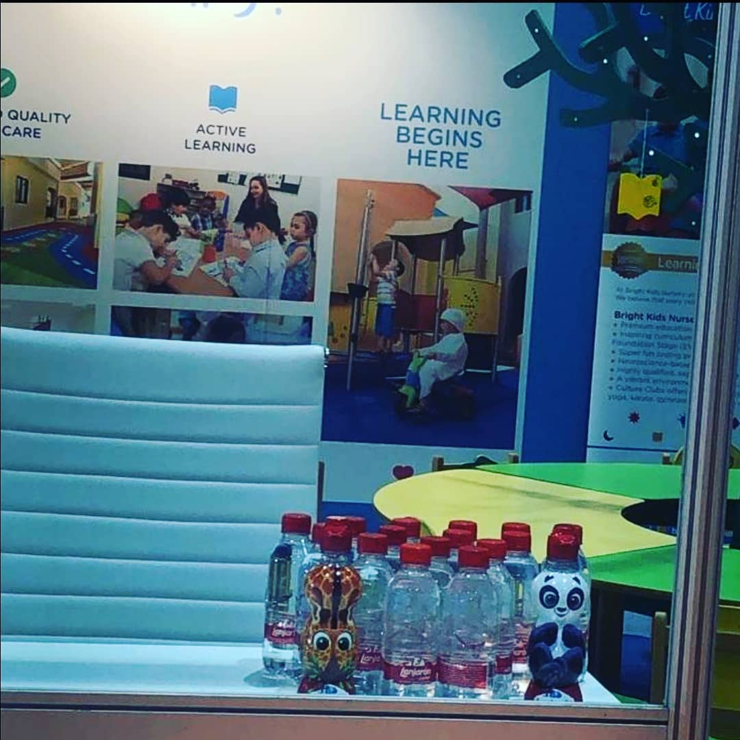 It was fun having our water mountain mineral water at the @brightkids_nursery stand during the ADIHEX