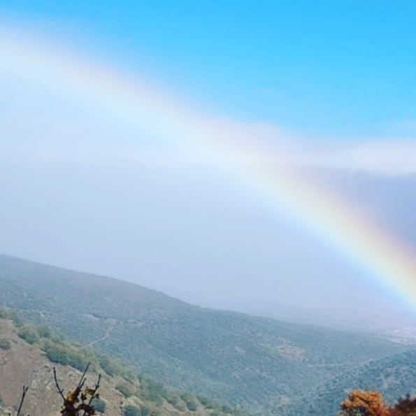 Beautiful rainbow over Lanjarón city and surroundings. Thank you @juz_jestem_tutaj for this breath taking picture.
