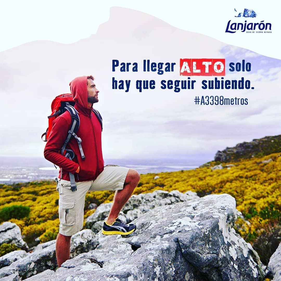 To arrive at the top, you have to keep climbing. Rise to the top with Lanjarón. Repost from @agualanjaron