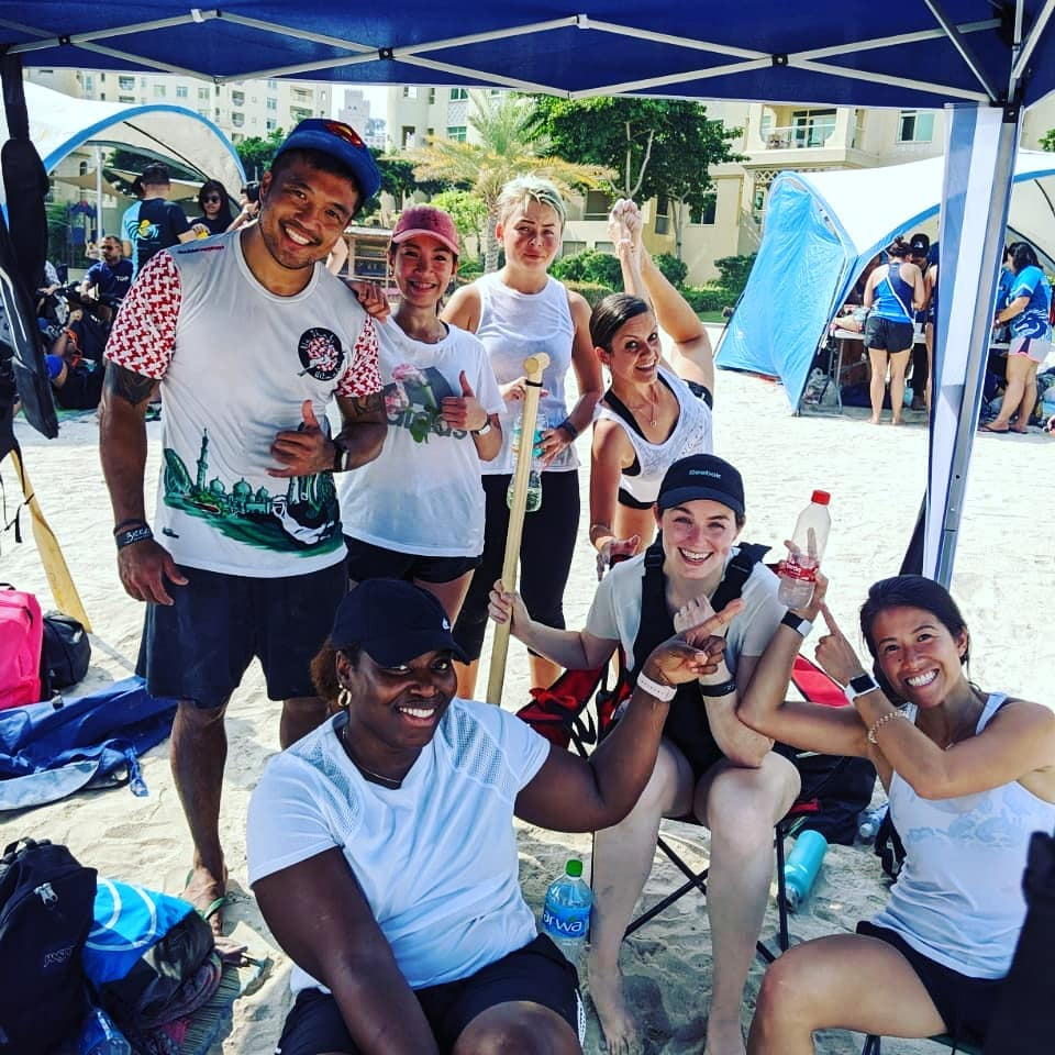 Congratulations to #caregiversteam for fighting hard at #dragonboatdubai.