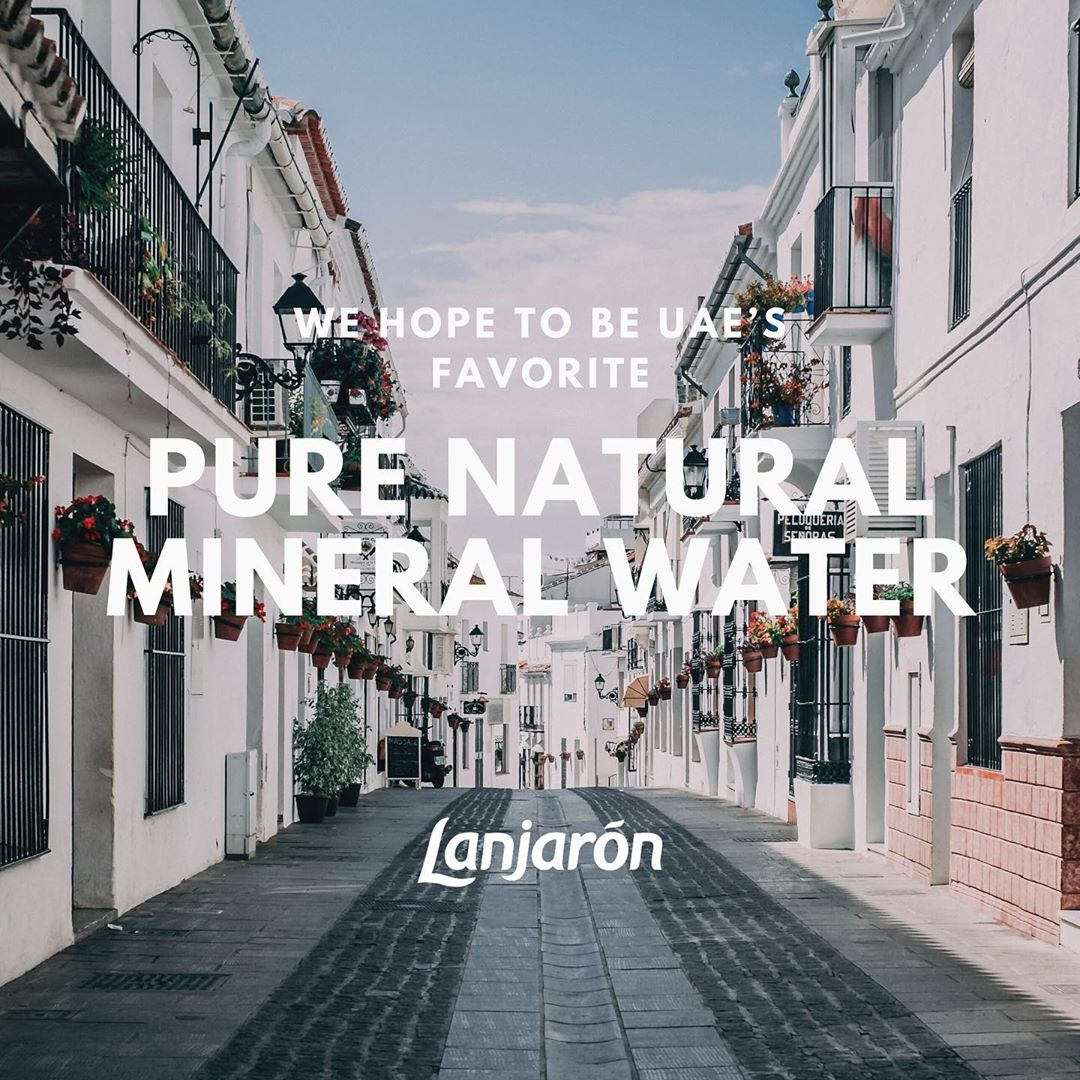 Lanjaron, hoping to be UAE's favorite natural mineral water from a naturally protected reserve in the highest mountains of Al Andalus, Spain.