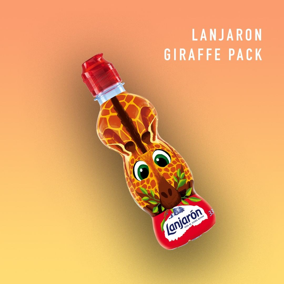 Bright bottles for children with zero sugar. 100% natural mineral water inside. These zoo bottles are made from 25-50% recycled plastic (rPET). Become part of the Lanjarón Kids family.