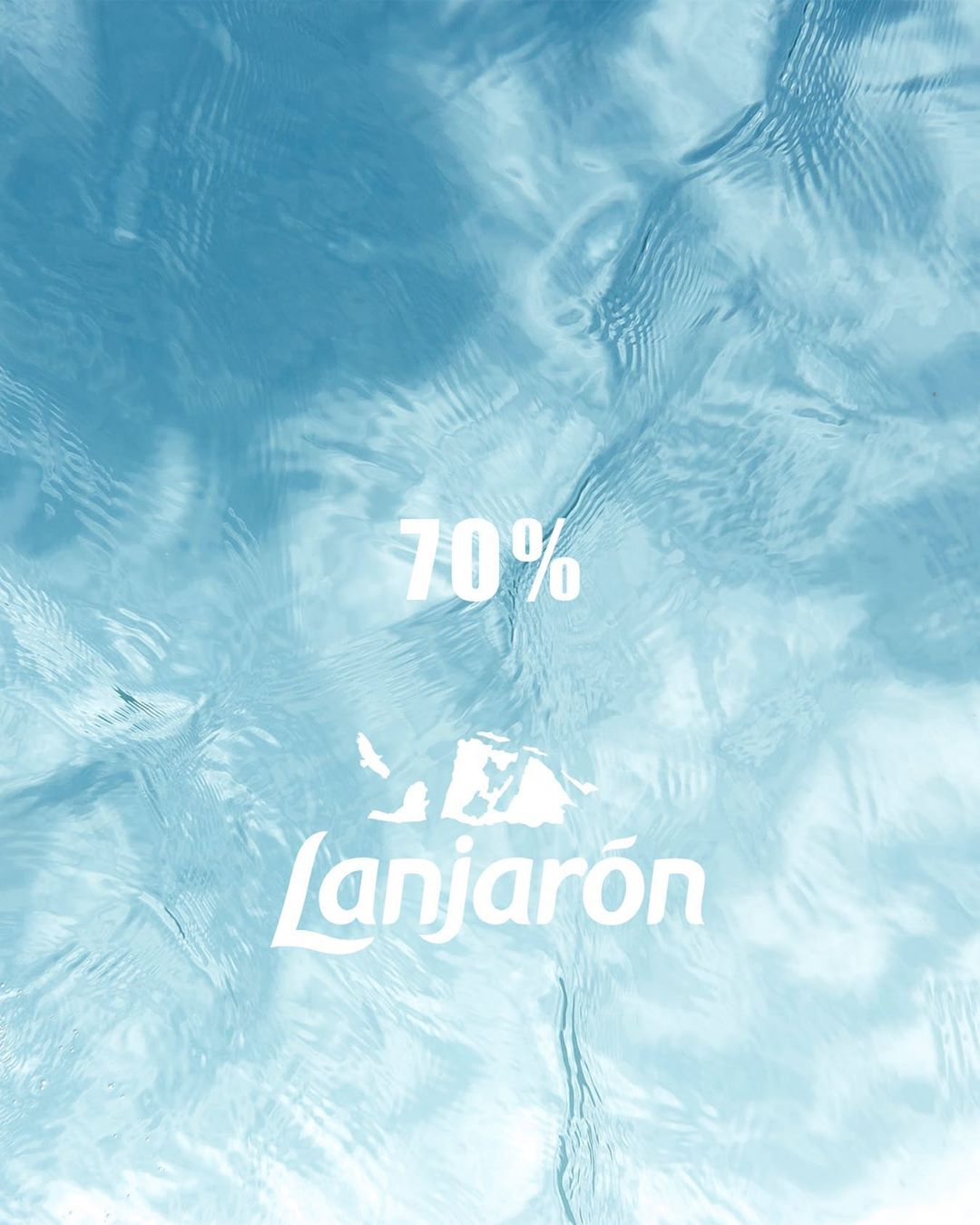 Today I learned 70% of the human brain is water! 💧 🧠 #Lanjaronmena
