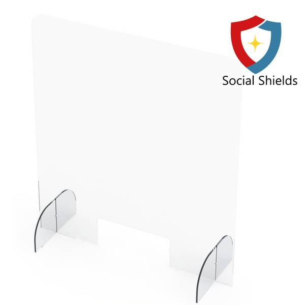 (32W in x 36H in) Regular - Protective Countertop Shield & Plexiglass Sneeze Guards-Business Work Safety Protective Shields, Screens & Gear-Social Shields Canada-#SG32361