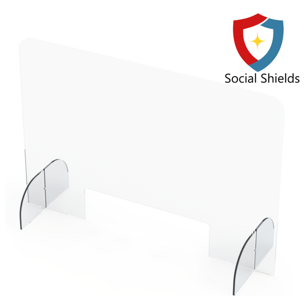 (36W in x 24H in) Regular - Protective Countertop Shield & Plexiglass Sneeze Guards-Business Work Safety Protective Shields, Screens & Gear-Social Shields Canada-#SG362416