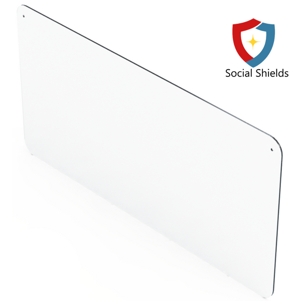 (48W in x 24H in) Regular - Hangable Protective Countertop Shield & Plexiglass Sneeze Guard-Business Work Safety Protective Shields, Screens & Gear-Social Shields Canada-#SG48241