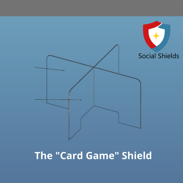 Card Game Shield-Business Work Safety Protective Shields, Screens & Gear-Social Shields-