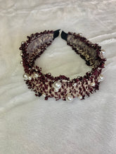 Load image into Gallery viewer, Fringe Tweed Pearl Chanel Look Headband