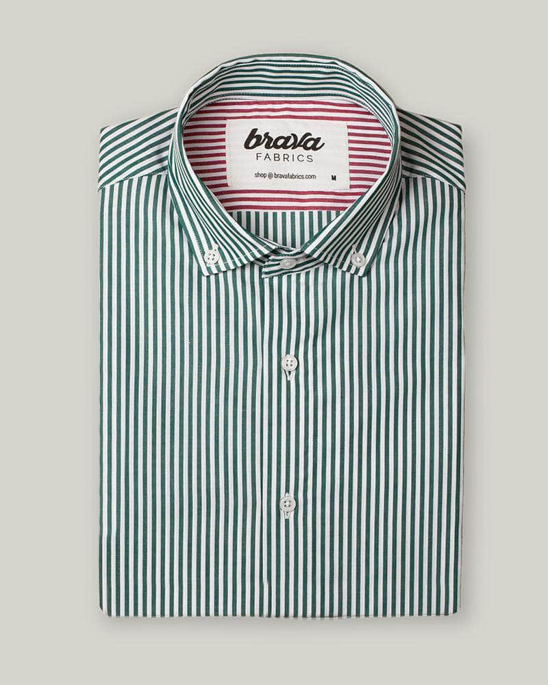 Camisa Green Kodak Stripes Essential