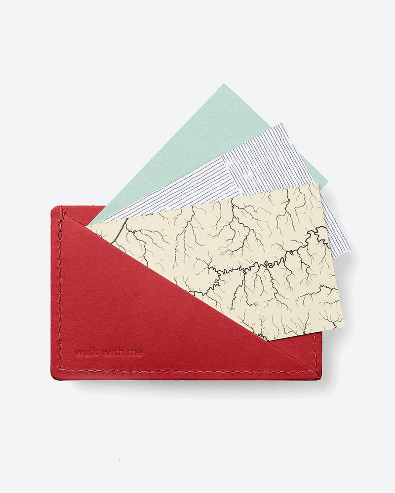 Walk With Me - Triangle Wallet Red by Walk With Me