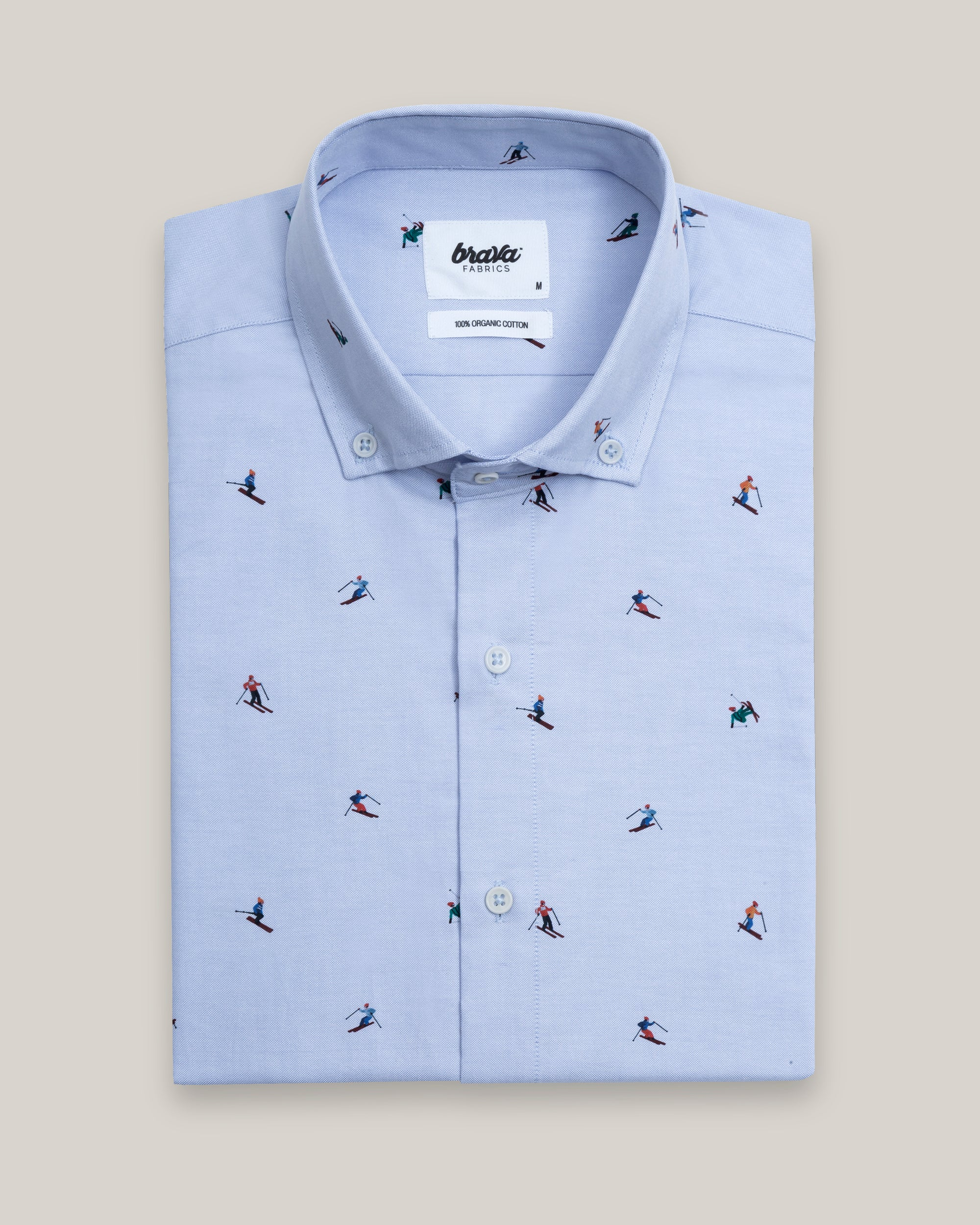 Camisa Estampada Slalom Race Blue