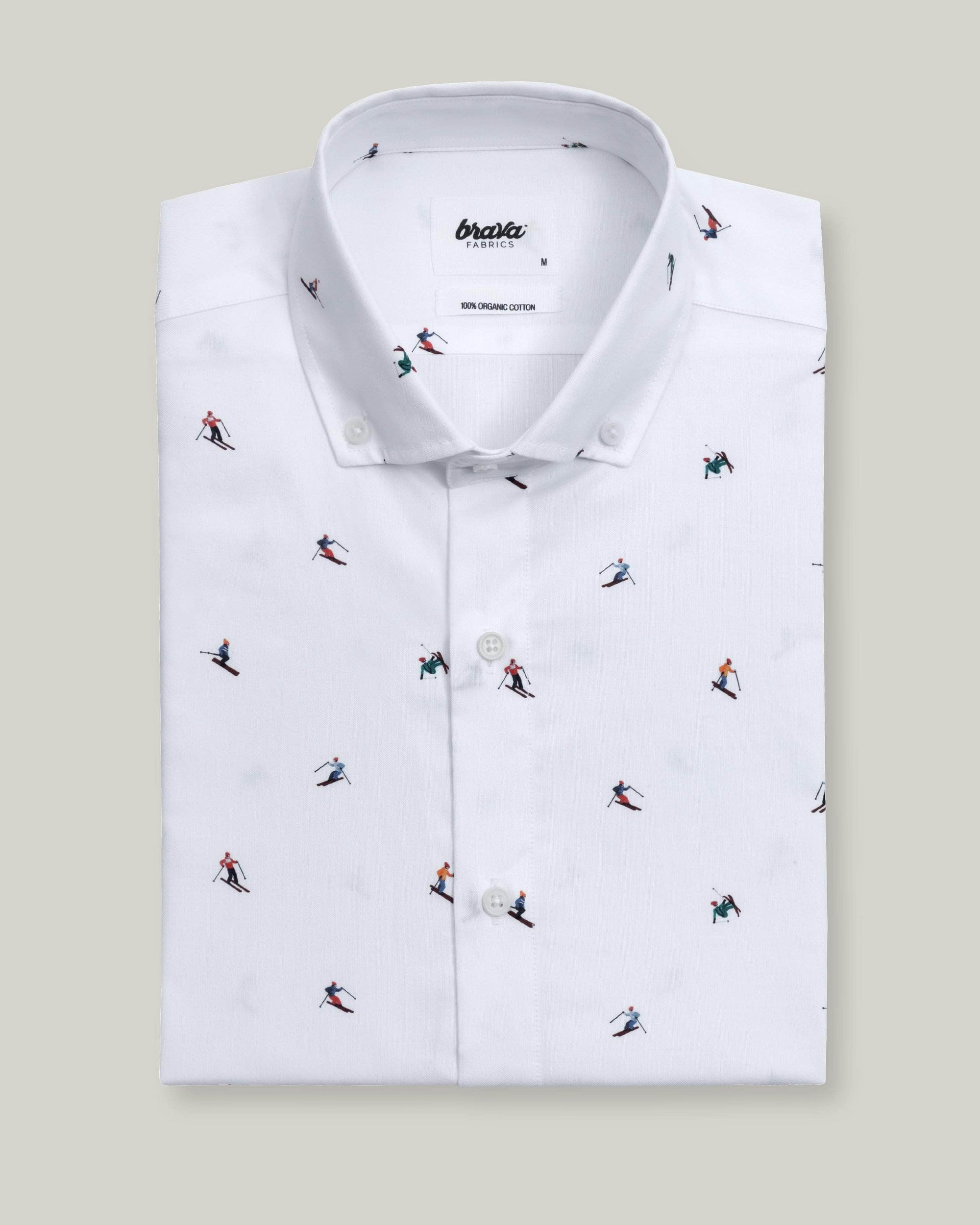 Camisa Estampada Slalom Race White