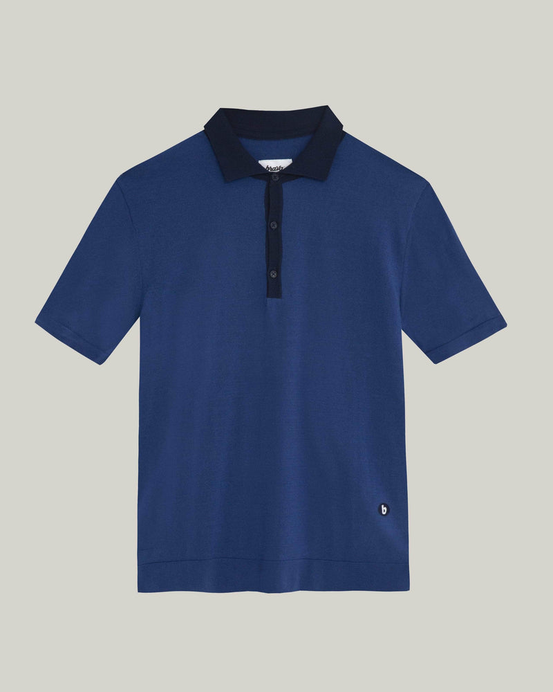 Brava Fabrics - Mens Polo-Shirt - Polo T-Shirt - 100% Organic Cotton - Model Navy Sky