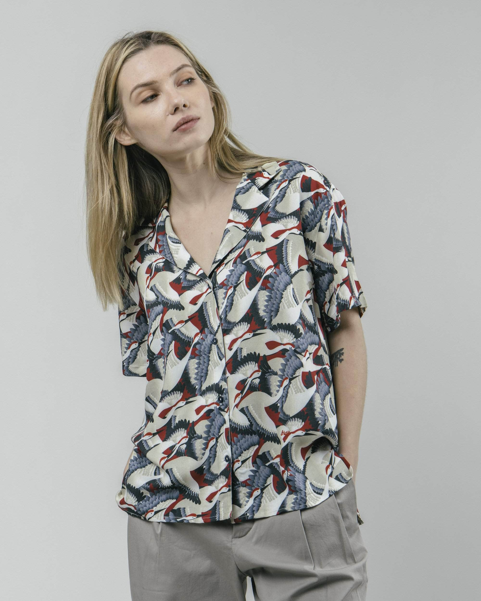 Blusa Aloha Crane for Luck