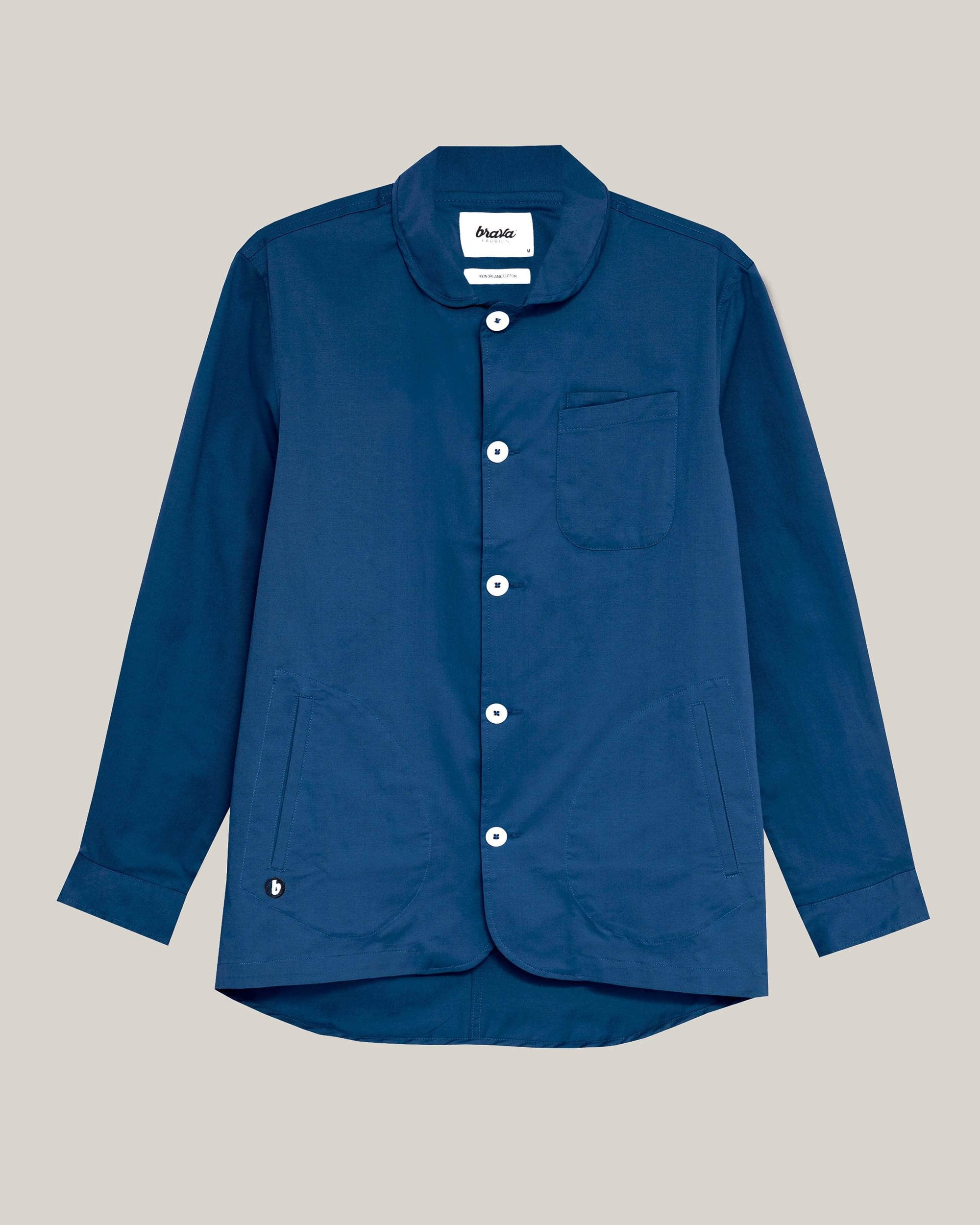Brava Fabrics - Lightweight Cotton Jacket for Women - Jacket made of Organic Cotton - Model Blue Essential