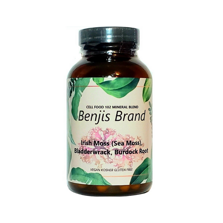 Sea Moss Bladder Wrack Burdock Root Capsules 100ct - Benji's Brand