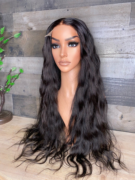 26'' HD LACE 5X5 Raw Cambodian loose wavy high density