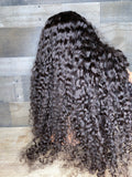 30'' Cambodian curly closure wig heavy density over 4 bundles thick