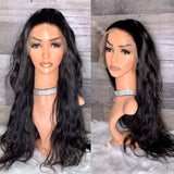 Raw Indian silky wavy unit in natural  color 26""