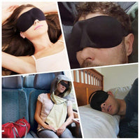 1 Piece 3D Sleep Mask Natural Sleeping Eye Mask Eye-shad Cover Shade Eye Patch Women Men Soft Portable Blindfold Travel Eye-patch