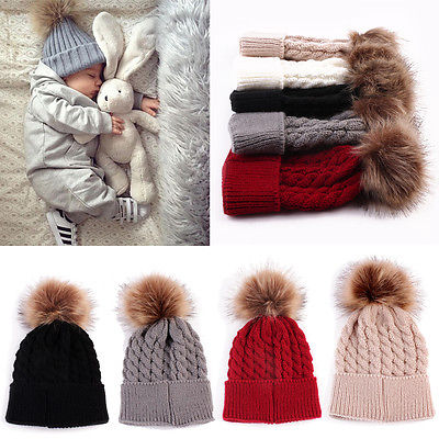 Emmababy Newborn Winter Autumn Keep Warm Lovely Baby Kids Girls Boys Toddler Knitted Crochet Beanie Hat Caps