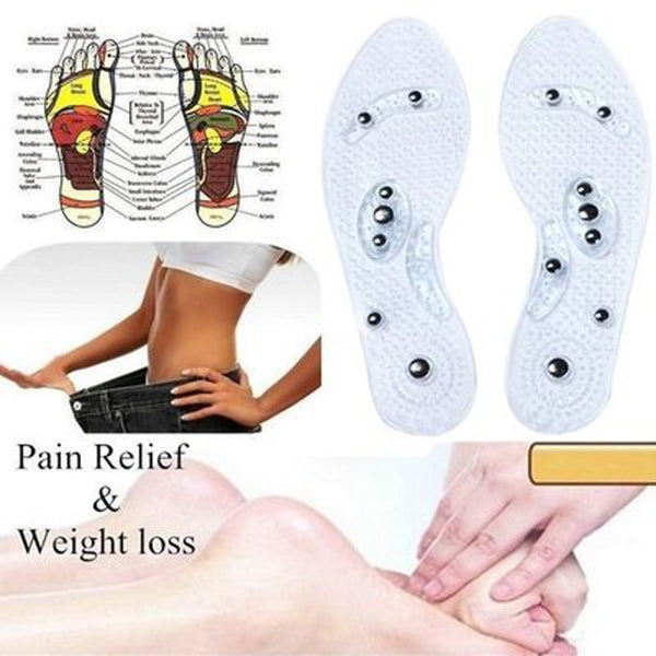 1 Pair Lose Weight Pads Women Men Silicone Slim Insole Magnetic Therapy Anti Fatigue Massage Insoles Slimming Product