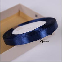 25Yards 22meter Navy Blue Polyester Satin Fabric Ribbon Christmas Wedding Party Prom Decoration Cake Wrap Ribbons DIY Accessories