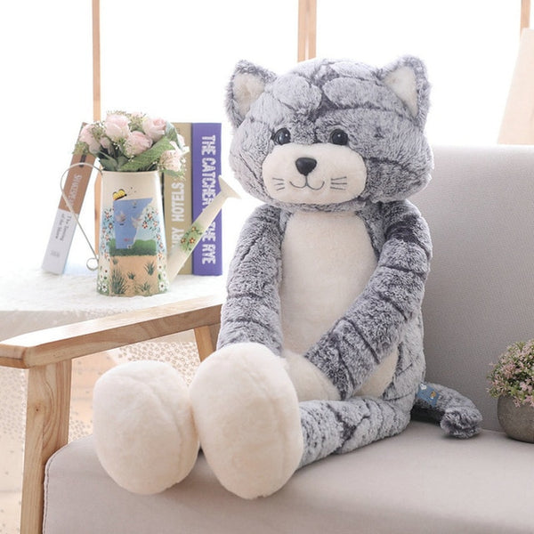 1Pc Plush Toy Soft Cat Black Gray Cat Plush Toys Lovely Anime Cat Doll Birthday Chrismas Gift for Children Cat Doll Baby Doll