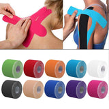 2 Size Kinesiology Tape Athletic Tape Sport Recovery Tape Strapping Gym Fitness Tennis Running Knee Muscle Protector Scissor