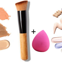 2019 New Makeup Brushes Powder Concealer Blush Foundation Face Makeup Brush Set Wood Handle Tools Professional