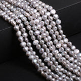 Freshwater  Pearl Beads  High Quality 36cm Punch Loose Beads for DIY Women Elegant Necklace Jewellery Making