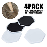 4pcs/Set Heavy Duty Furniture Moving Sliders Table Pads Floor Protectors House Helper Easy Accessories