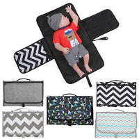 New 3 In 1 Waterproof Changing Pad Diaper Travel Multi function Portable Baby Diaper Cover Mat Clean Hand Folding Diaper Bag