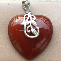 Tiger Eye How-lite Blue Sand Gold-stone Malachite Aventurine Carnelian Opal Heart Women Men Pendant Bead
