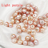 9-10mm Freshwater Pearls Stylish Pendant Button Loose Beads New Fashion Jewellery Making DIY Necklace Bracelet Accessories