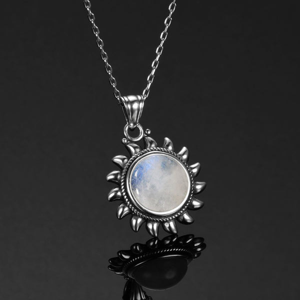 Original Design Sun Pendants Necklaces 925 Sterling Silver Jewellery Necklace for Women Collares Popular Fine Party Gift
