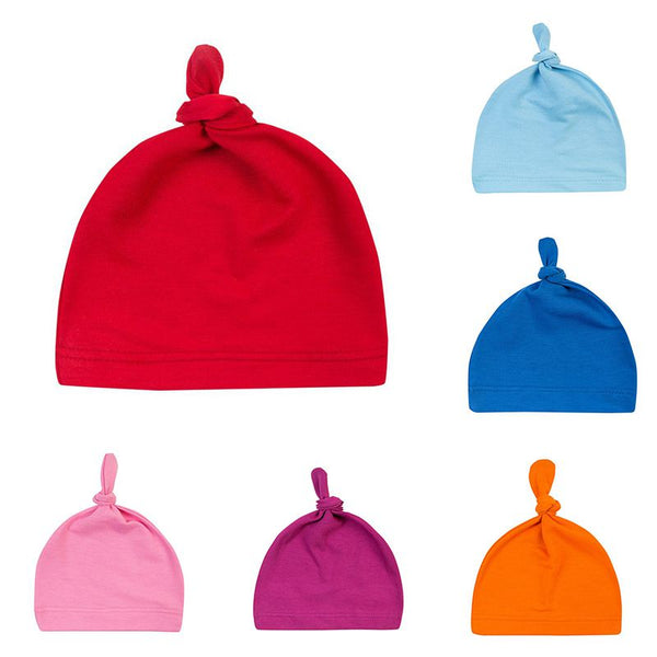 16 Colors Baby Knot Cotton Hat Spring Autumn Toddler Beanies for Boys Girls Cap Winter Warm Solid Colour Children Hat